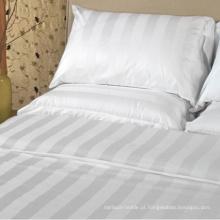 Roupa de cama do hotel fornecedor em China Conjunto de roupa de cama da listra