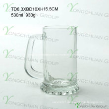 500ml Nice Glass Beer Cup klar gute Qualität