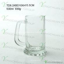 500ml copo de cerveja de vidro agradável claramente boa qualidade