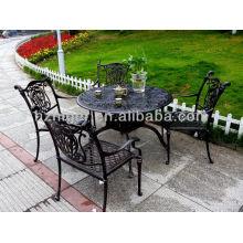 fundición de arena de aluminio de muebles de exterior y conjuntos de silla y mesa de ocio