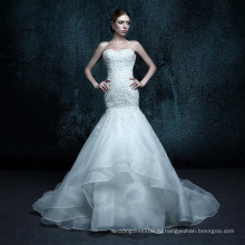 ZXB4 Русалка кружева аппликация кружева милая Кристалл свадебное платье