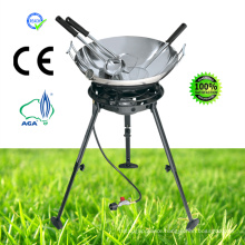 Gas Stove with Carbon Wok Kit Spoon, Skimmer, Spatula