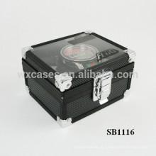 caixa de único relógio de alumínio de luxo com um top show de clara