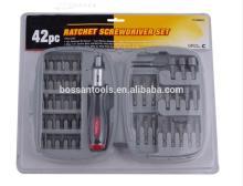 42pcs ratchet screwdriver set with small plastic case