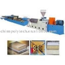 Línea de extrusión Junta/placa/hoja de la PC/PVC/PP/PE/PMMA/ABS