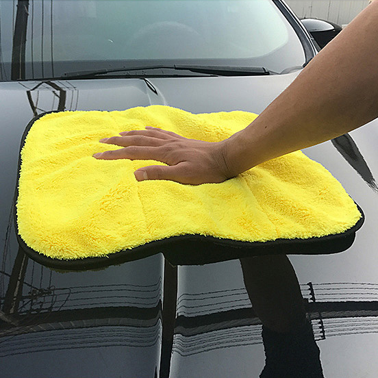 Coral Velvet Car Cleaning Towel