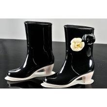 PVC Gummistiefel für Frauen, Mode Regen Absatzschuh