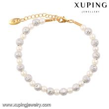74379 Fashion Elegent Charm Multicolor Imitation Pearls Beads Jewelry Bracelet