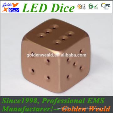 MCU control colorful LED gold-plating dice