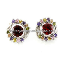 Ruby stone stud earrings fashion earrings turkish jewelry