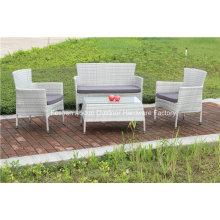 Garten-Rattan-Weiden-stapelbares Sofa im Freien