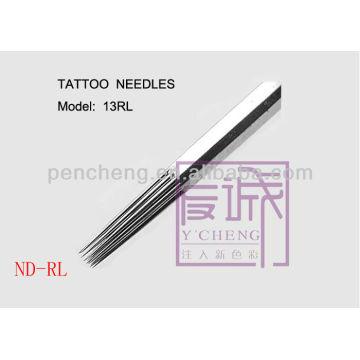 Sur les aiguilles de bar / rond, 50 paquets d'aiguilles de tatouage stériles pré-fabriquées