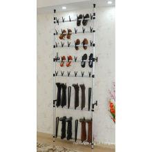 Sapateira de arame de parede para 30 pares, estante de sapatos rolantes