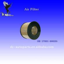 Filtro de ar 17801-68020 da rede de arame de Toyota