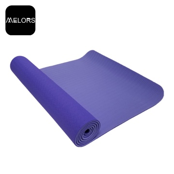 Twin Color TPE Gym Mat Yoga Ejercicio Mat