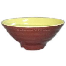Two Tone Round Melamine Ramen Bowl (BW7037)