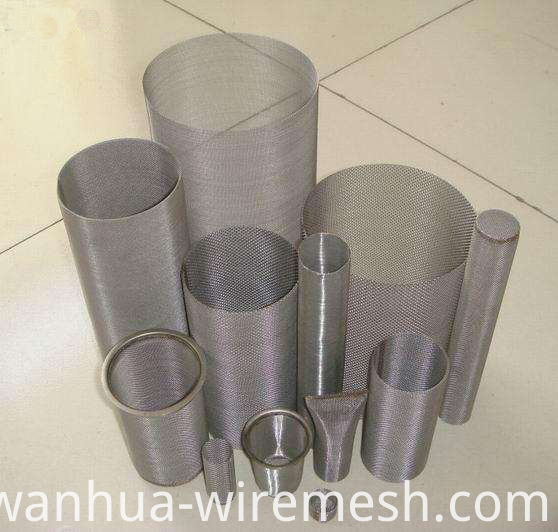 Cylinder shaped filter tube to make filter equipment