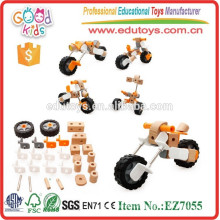 El más nuevo diseño monta la motocicleta juega el OEM embroma los juguetes educativos de madera de la construcción al por mayor EZ7055