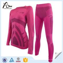 Roupa interior de esqui de alta qualidade mulheres underwear set