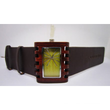 Hlw036 OEM Men′s and Women′s Wooden Watch Bamboo Watch High Quality Wrist Watch