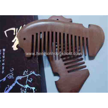 Fine-tooth with Anti-static Beard  Wood Comb