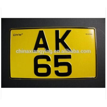 Reflective Car Plate Fashion Mini Design with Number of Decorative Car Plate