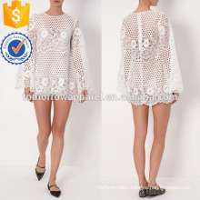 White Lace Swing Dress Manufacture Wholesale Fashion Women Apparel (TA4068D)