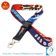 High Quality Customized Logo Heat Transfer Printed Lanyard with Plastic Buckle for Staff