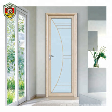 exterior wooden color aluminum tempered glass bathroom door frosted glass bathroom doors