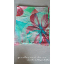 Inner Mongolia pashmina scarf with digital printed pattern