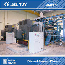1mw-500mw 1000rpm Diesel-Generator-Kraftwerk