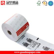China fabricante de rollo de papel térmico preestablecido personalizado