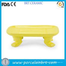 Neue Produkt Neuheit Footed Keramik Seifenschale