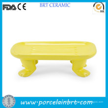 New Product Novelty Footed Ceramic Soap Dish