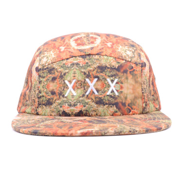 Embroidery Dye Sublimation Printing Polyester 5 Panel Hat