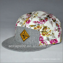 Chapeau floral personnalisé à 5 panneaux
