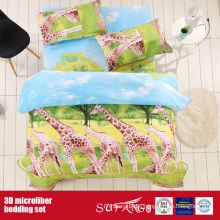 Printed Microfiber Big Giraffe Printing 3D Pillow Case