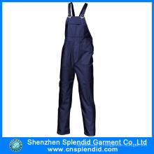 Vêtements bleus des hommes faits sur commande d'OEM bon marché pour le travail
