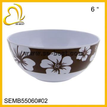 Белый меламин чаша для риса, меламин чаша