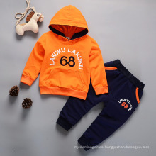 New Monogram Printed Cotton Sweaters for Boys and Girls Two Piece Baby Trouser Set Wholesale