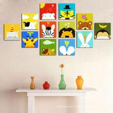 Cartoon Pictures Print on Canvas pour chambre pour enfants