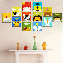 Cartoon Pictures Print on Canvas for Kids Room