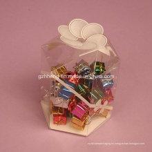 Embalaje de caja de plástico transparente personalizado (caja de dulces PP)