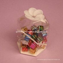 Emballage en plastique clair fait sur commande de boîte (boîte de sucrerie de pp)