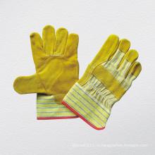 Золотая корова сплит-кожаная перчатка (3051)