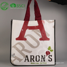Custom reusable laminated polypropylene tote bag