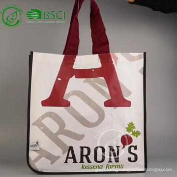 Custom reusable laminated polypropylene tote bag