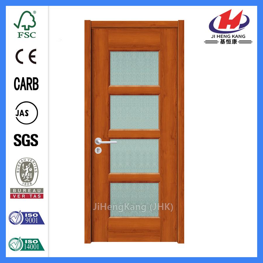 Jhk-010 1/2 View 1 Lite 5 Panel  Micro Granite Glass Push Open Glass Door