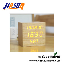 Wooden Calendar Clock Led Desk Model
