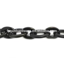 Moda de alta qualidade Metal Alumínio Cadeia Oval Cabo